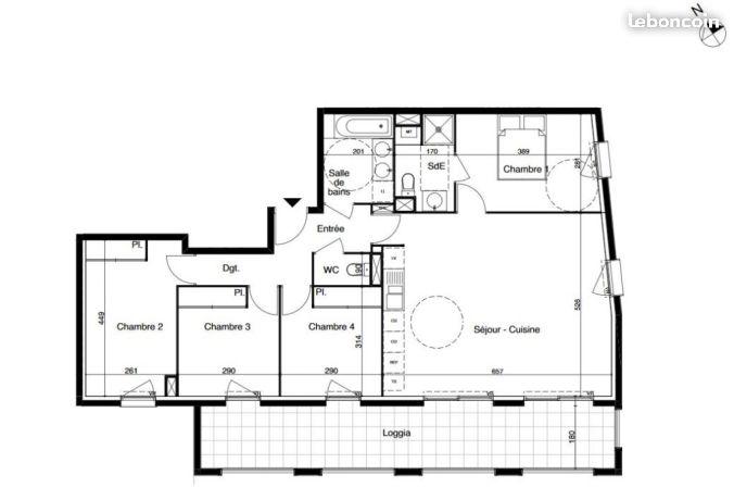 Appartement investissement colocation de 4 personnes for Location appartement bordeaux 8 personnes