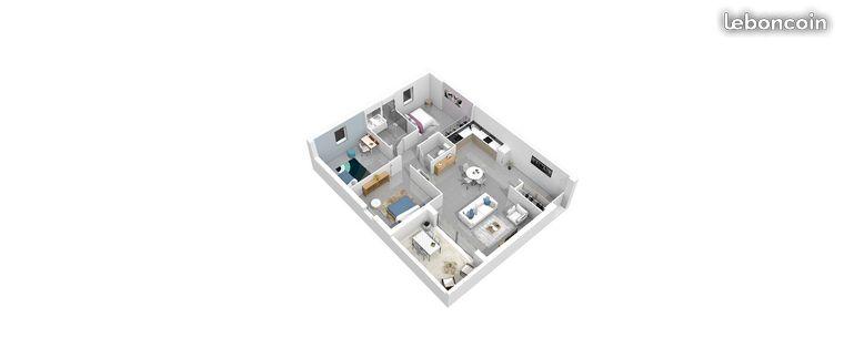 Appartement - Investissement locatif Colocation Aix-en-Provence - 3 colocataires -  Rendement 3.61 % - 399000 €FAI - Loyer net garanti 1198.8 €